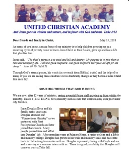UCA newsletter 5.18
